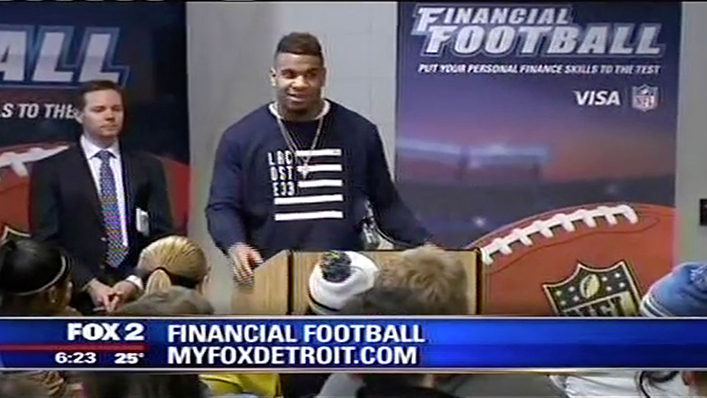 Detroit Lions Eric Ebron Featured on Fox 2 News Playing