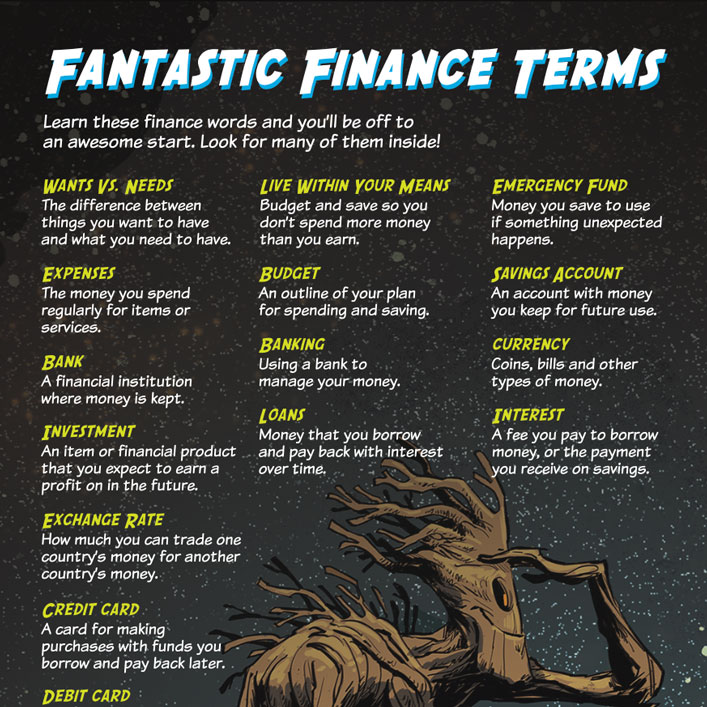 Finance Words: Guardians Of The Galaxy
